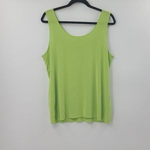 Chicos travelers lime green tank. Size 3. XL.